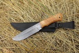 """Нож из дамасской стали """"Лось"""""""