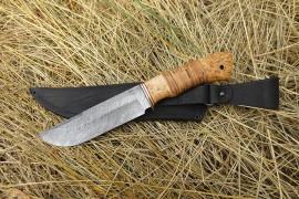 "Нож из дамаска ""Охотник"""