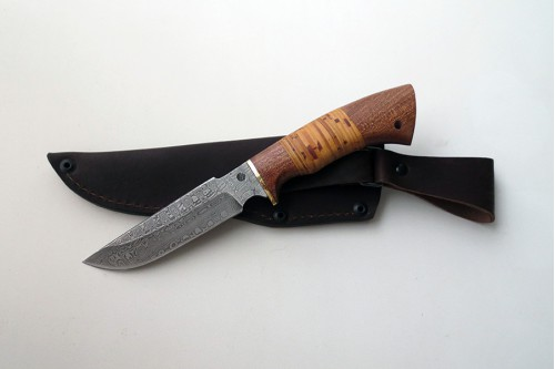 """Нож из дамасской стали """"Гарсон"""" (малый) - работа мастерской кузнеца Марушина А.И."""