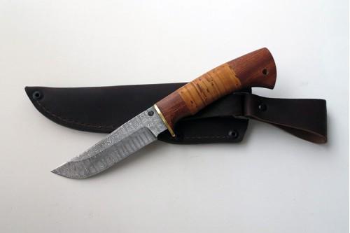 """Нож из дамасской стали """"Куница"""" (малый) - работа мастерской кузнеца Марушина А.И."""