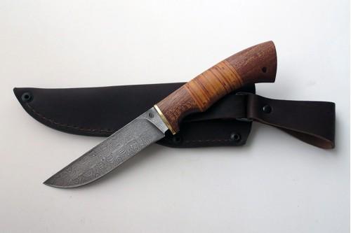 """Нож из дамасской стали """"Лис"""" (малый) - работа мастерской кузнеца Марушина А.И."""