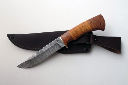 """Нож из дамасской стали """"Луч"""" (малый) - работа мастерской кузнеца Марушина А.И."""