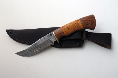 """Нож из дамасской стали """"Мангуст"""" (малый) - работа мастерской кузнеца Марушина А.И."""