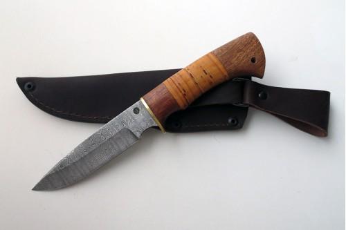 """Нож из дамасской стали """"Пума"""" (малый) - работа мастерской кузнеца Марушина А.И."""
