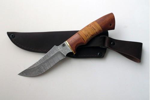 """Нож из дамасской стали """"Рыбак"""" (малый) - работа мастерской кузнеца Марушина А.И."""