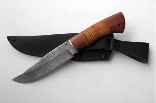 """Нож из дамасской стали """"Таёжный"""" (малый) - работа мастерской кузнеца Марушина А.И."""