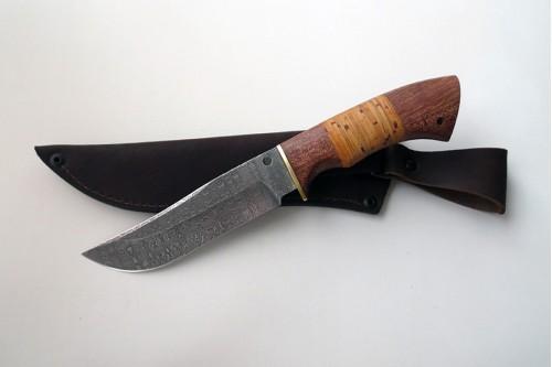 """Нож из дамасской стали """"Куница"""" - работа мастерской кузнеца Марушина А.И."""