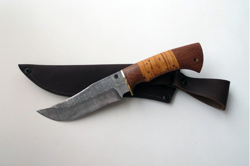 """Нож из дамасской стали """"Мангуст - работа мастерской кузнеца Марушина А.И."""
