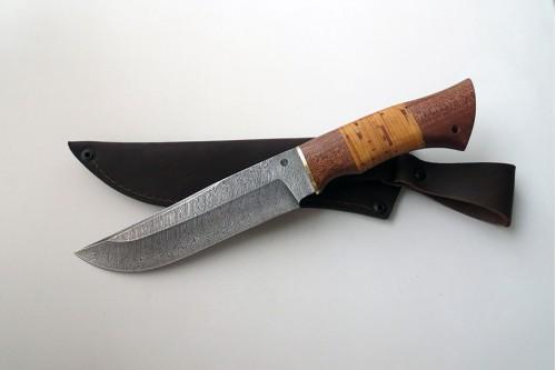 """Нож из дамасской ст. """"Таёжный"""" - работа мастерской кузнеца Марушина А.И."""