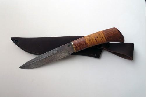 """Нож из дамасской ст. """"Универсал"""" - работа мастерской кузнеца Марушина А.И."""
