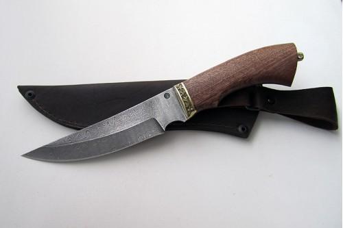 "Нож из дамасской стали ""Акула"" - работа мастерской кузнеца Марушина А.И."