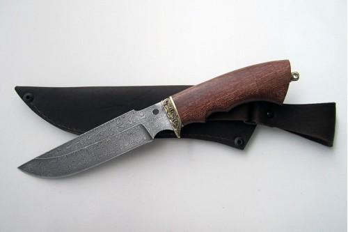 """Нож из дамасской стали """"Гарсон"""" - работа мастерской кузнеца Марушина А.И."""