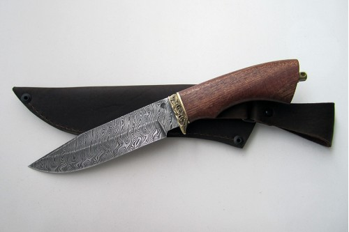 """Нож из дамасской стали """"Гепард"""" - работа мастерской кузнеца Марушина А.И."""