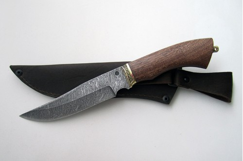 "Нож из дамасской стали ""Осётр"" - работа мастерской кузнеца Марушина А.И."