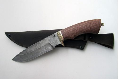 """Нож из дамасской стали """"Пума"""" - работа мастерской кузнеца Марушина А.И."""