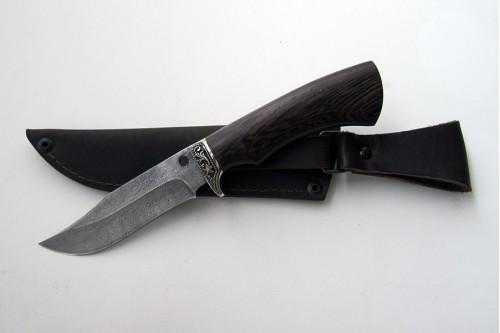 """Нож из дамасской стали """"Гюрза"""" (малый) - работа мастерской кузнеца Марушина А.И."""
