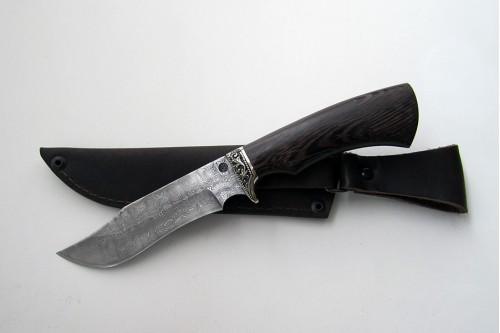 """Нож из дамасской стали """"Леший"""" (малый) - работа мастерской кузнеца Марушина А.И."""