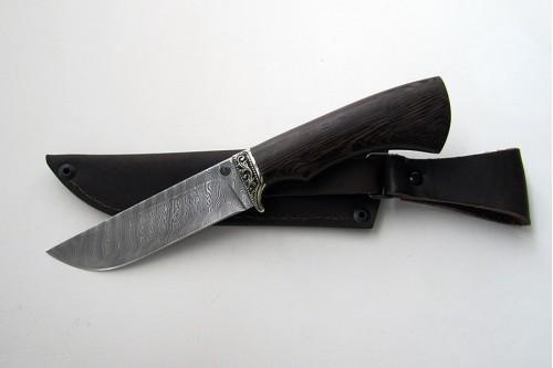 """Нож из дамасской стали """"Пантера"""" (малый) - работа мастерской кузнеца Марушина А.И."""
