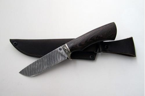 """Нож из дамасской стали """"Шершень"""" (малый) - работа мастерской кузнеца Марушина А.И."""