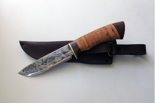 Нож Морж (малый) из стали 9ХС - работа мастерской кузнеца Марушина А.И.