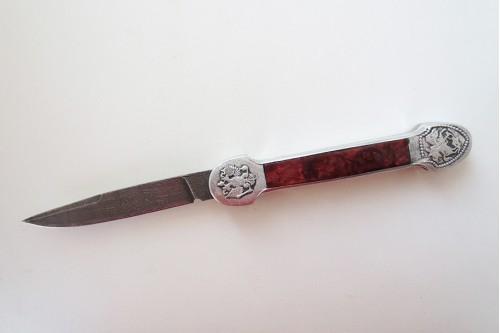 Нож Складной-2 (выкидной) - работа мастерской кузнеца Марушина А.И.