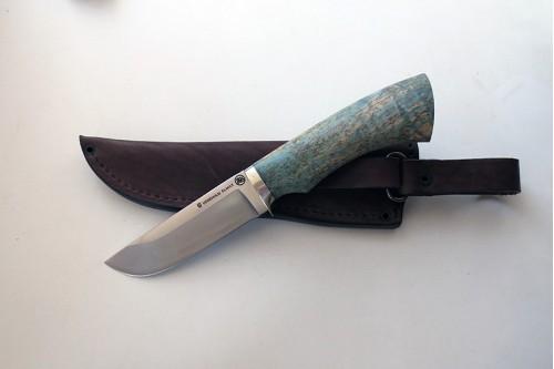 Нож Бобр 1 из стали Elmax (стаб. карель. береза) - работа мастерской кузнеца Марушина А.И.