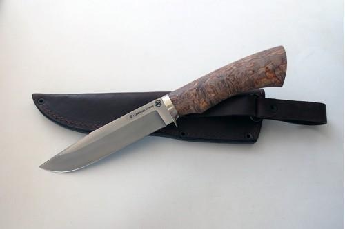 Нож Гепард 1  из стали Elmax (стаб.карел.береза) - работа мастерской кузнеца Марушина А.И.