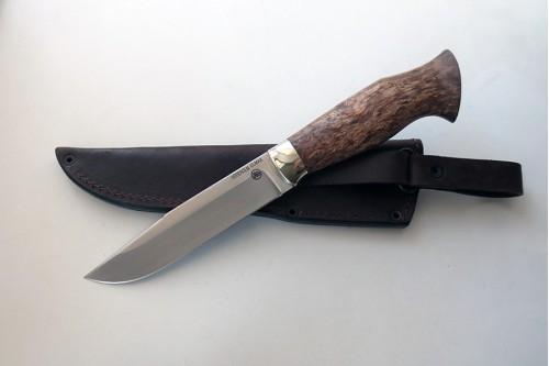 Нож Гепард 2  из стали Elmax (стаб.карел.береза) - работа мастерской кузнеца Марушина А.И.