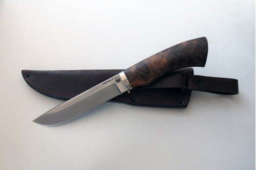 Нож Луч 3  из стали Elmax (корень ореха) - работа мастерской кузнеца Марушина А.И.