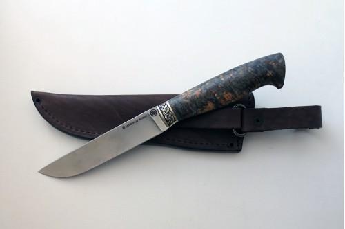 Нож Олень 3 из стали Elmax (стаб. карель. береза) - работа мастерской кузнеца Марушина А.И.