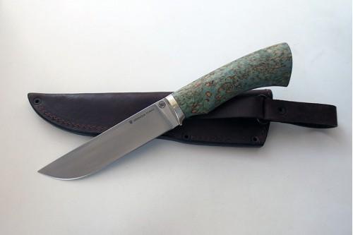 Нож Олень 1  из стали Elmax (стаб.карел.береза) - работа мастерской кузнеца Марушина А.И.