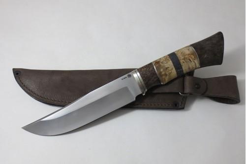 Нож Таежный из стали Elmax (стаб. карель. береза) - работа мастерской кузнеца Марушина А.И.