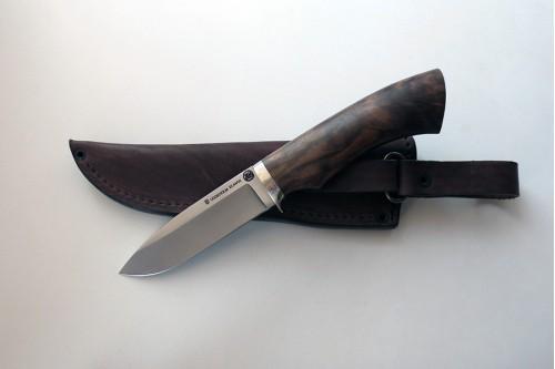 Нож Зубр 2  из стали Elmax (корень ореха) - работа мастерской кузнеца Марушина А.И.