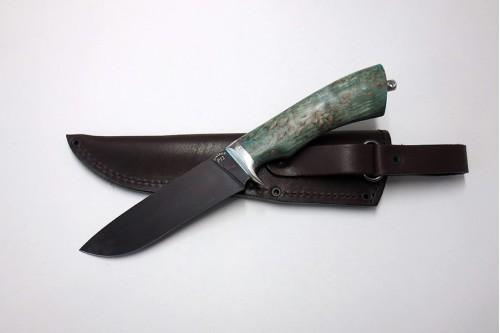 """Нож """"Шершень 1"""" (ст. к/б) из стали Р12 (быстрорез) - работа мастерской кузнеца Марушина А.И."""