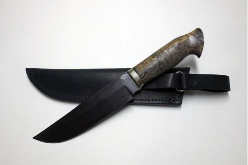 """Нож """"Таежный 2"""" (ст. к/б) из стали Р12 (быстрорез) - работа мастерской кузнеца Марушина А.И."""
