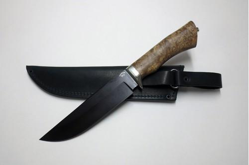 """Нож """"Таежный 1"""" (ст. к/б) из стали Р12 (быстрорез) - работа мастерской кузнеца Марушина А.И."""