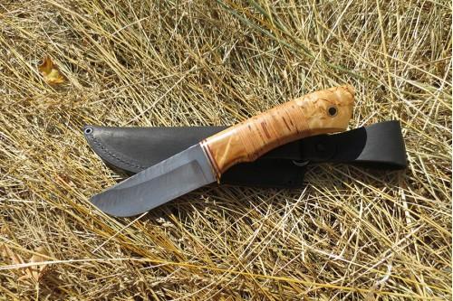 "Нож из дамаска ""Бобр"" (малый) - работа мастерской кузнеца Марушина А.И."