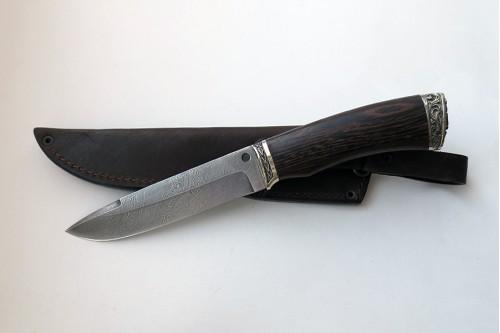 """Нож из дамасской стали """"Енот"""" - работа мастерской кузнеца Марушина А.И."""