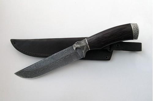 """Нож из дамасской стали """"Луч"""" - работа мастерской кузнеца Марушина А.И."""