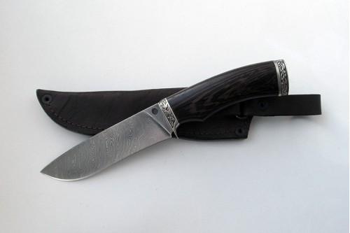 """Нож из дамасской стали """"Шершень"""" - работа мастерской кузнеца Марушина А.И."""