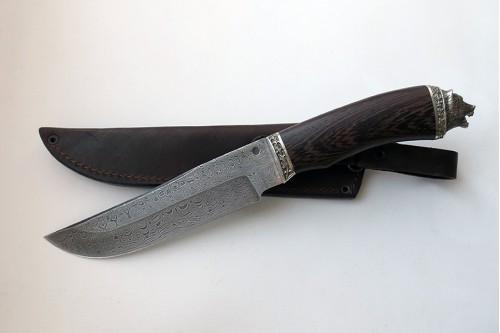 """Нож из дамасской стали """"Таёжный"""" - работа мастерской кузнеца Марушина А.И."""