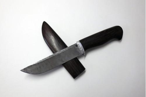"""Нож """"Пантера"""" из дамасской стали, (деревянные ножны) - работа мастерской кузнеца Марушина А.И."""