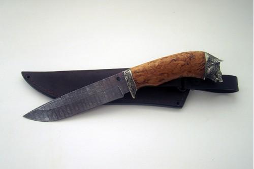 """Нож из дамасской стали """"Лань"""" - работа мастерской кузнеца Марушина А.И."""